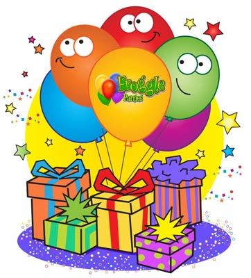 Presents and Balloons Theme