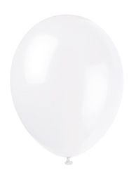 white coloured plain balloons