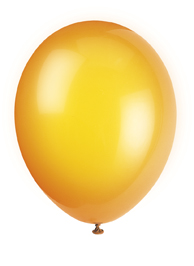 party balloons -orange coloured