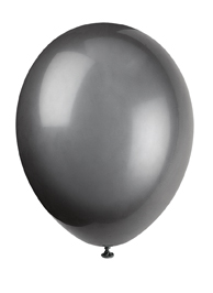 plain black balloon