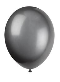 plain black balloon