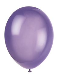 childrens party balloons - purple