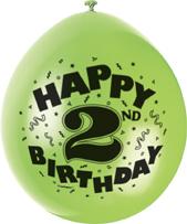 2nd kids birthday balloons