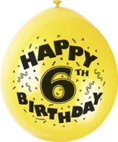 message balloons- happy 6th birthday