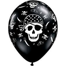 pirate skull and cross bones balloons