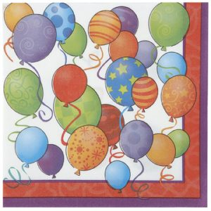 balloons themed napkins
