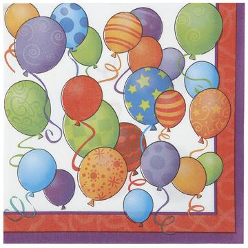 balloons themed napkins