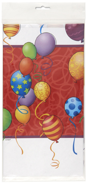 birthday balloons themed tablecover