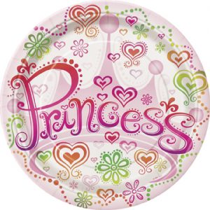 princess themed plates for childrens party
