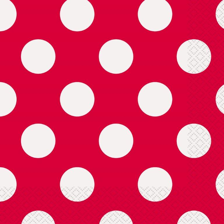 red decorative dots napkins