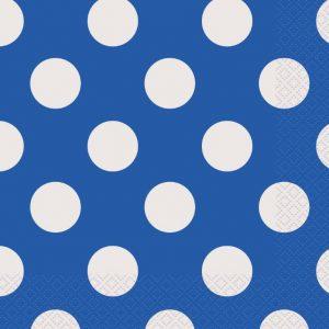 kids party napkins blue decorative dots