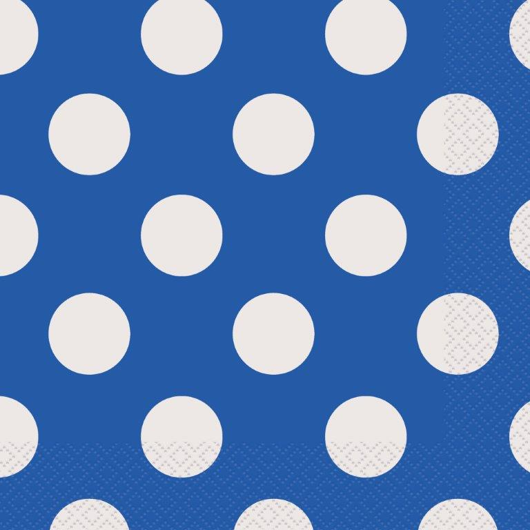 kids party napkins blue decorative dots
