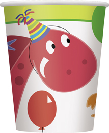 childrens fun dinosaur themed party cups
