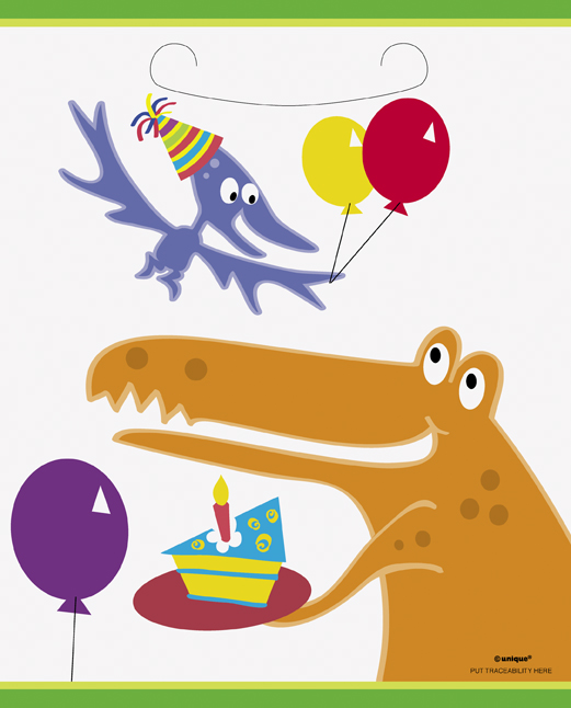 kids party bags - dinosaurs