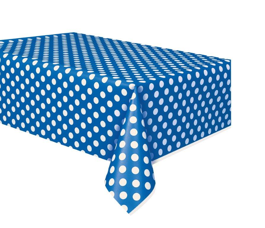 blue decorative dots kids party tablecover