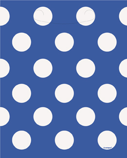 blue decorative dots party bags
