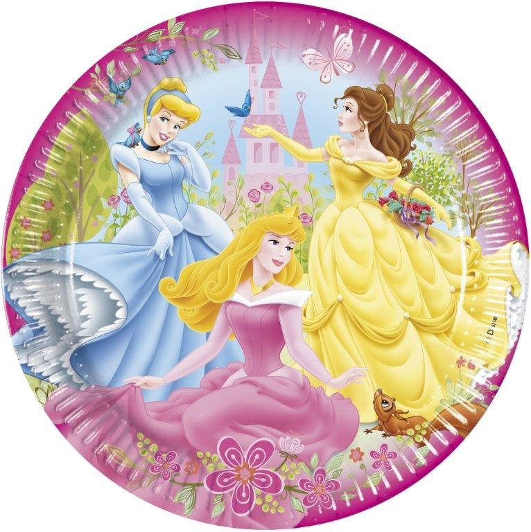 kids princess plates 8 Disney Princess Party Plates - Froggle Parties Shop
