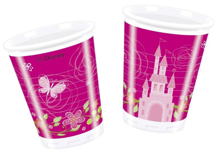princess themed cups