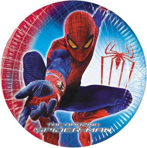 childrens party plates spidermn