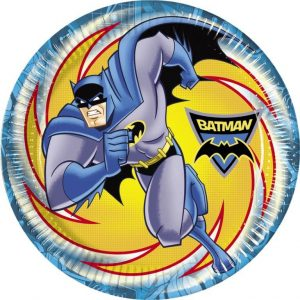 batman themed party plates