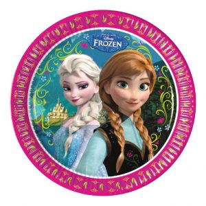 disney themed frozen plates