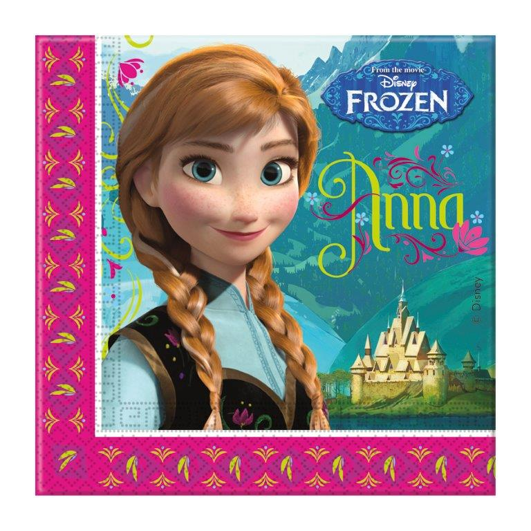 kids party napkins frozen themed