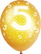 Printed 5th Birthday Balloons