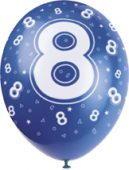 happy 8th birthday balloons
