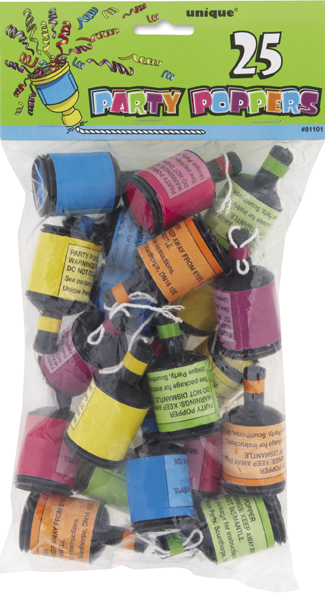 party poppers - 25