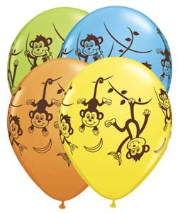 kids party jungle themed balloons