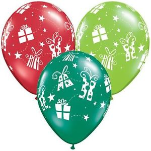 stars and presents balloons
