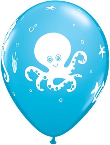 under sea themed balloons