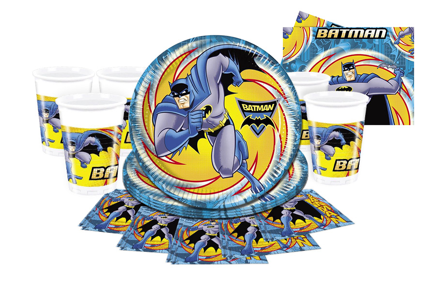 party ware set batman 8 guests
