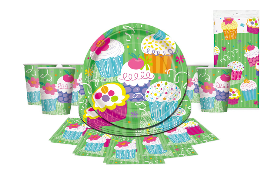 cupcakes themed partyware