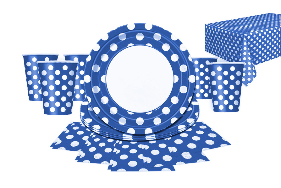 blue dots partyware