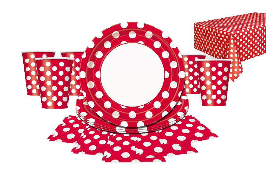 red dots partyware