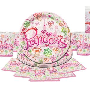 Princess themed party ware