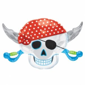 pirate skull foil balloon