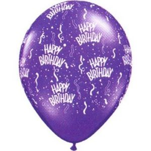 birthday around ballons