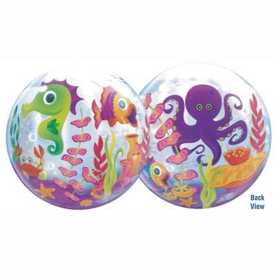fun sea creatures bubble balloons