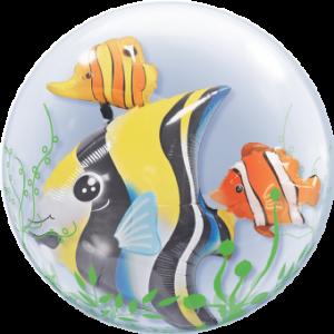 fun sea creatures double bubble balloon