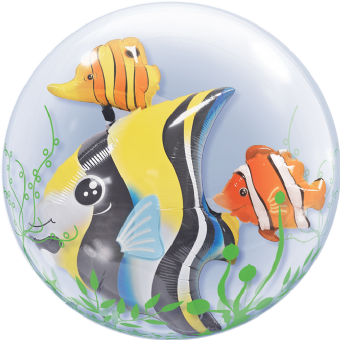 fun sea creatures double bubble balloon