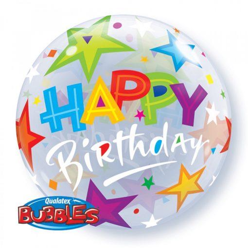 happy birthday bubble balloons