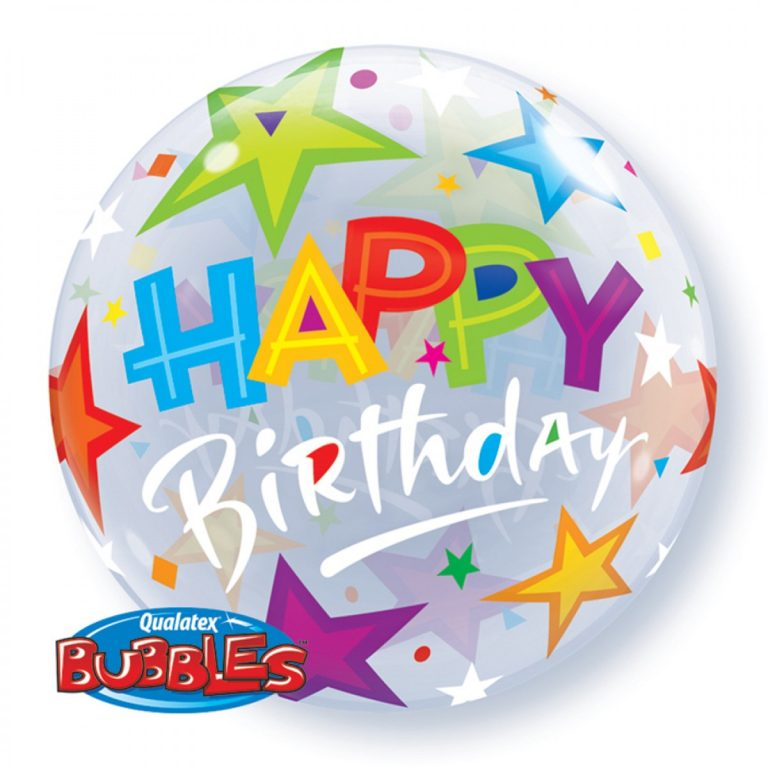 happy birthday bubble balloons