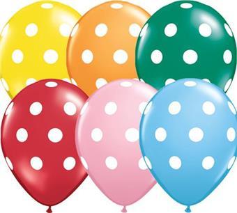 polka dots baloons