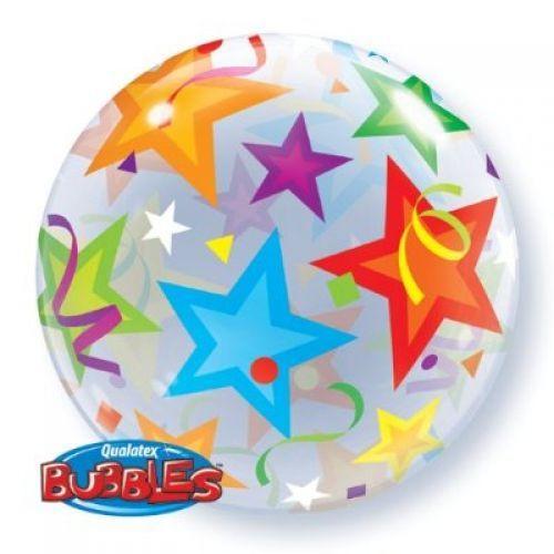 stars bubble balloons