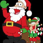 santa and elves