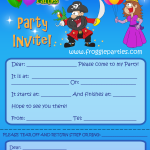 kids themed party invite