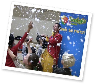 book a snow machine for your children's party