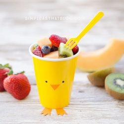 simple fruit pot easter kids party food idea